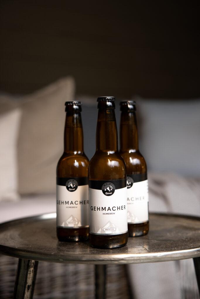 Drei Flaschen Gehmacher Homebrew